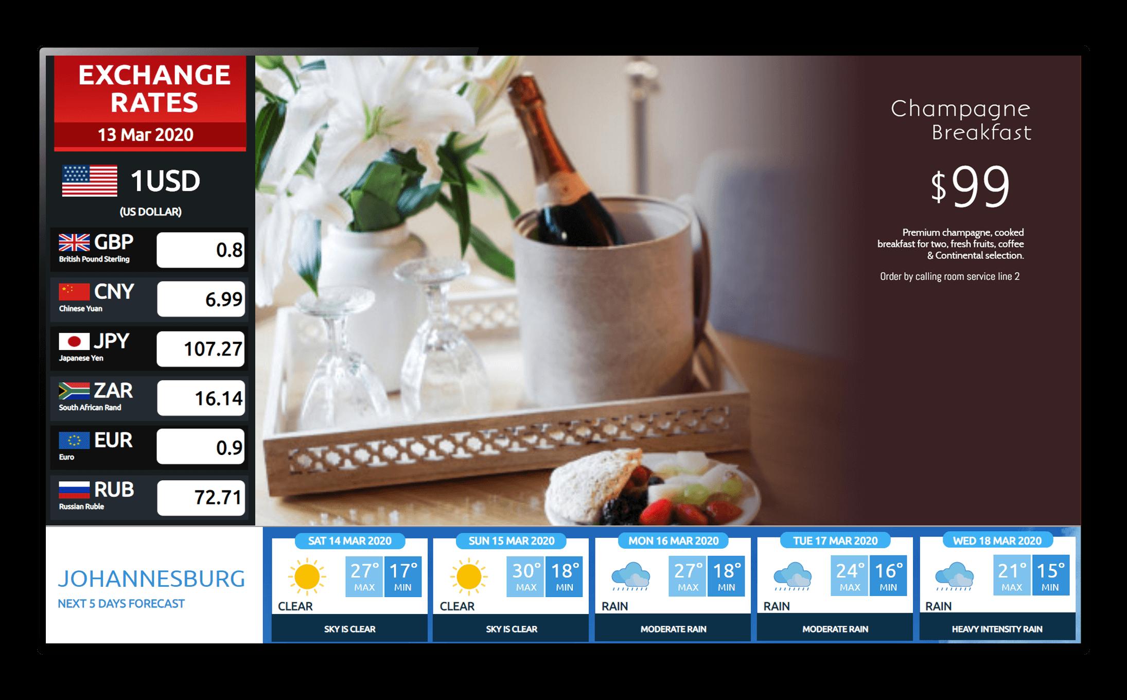 hospitality widgets